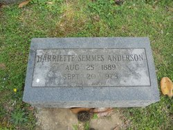 Harriette <i>Semmes</i> Anderson