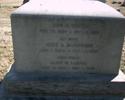 Alice A. <i>Mathewson</i> Barnes