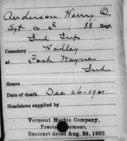 Sgt Henry C. Anderson