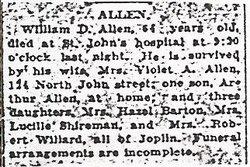 William D Allen