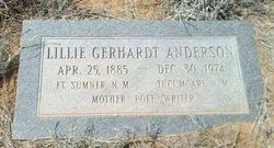 Lillie <i>Gerhardt</i> Anderson