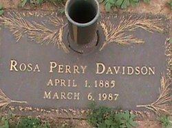 Rosa <i>Perry</i> Davidson