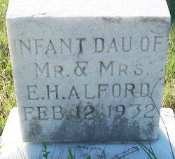 Infant Daughter Alford