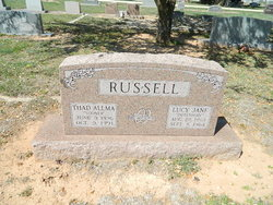 Lucy Jane Dutchman <i>Adame (Booth)</i> Russell