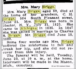 Mary <i>Laycock</i> Briggs