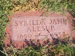 Syrilda Jane <i>Hines</i> Allsup