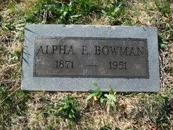 Alpha Elmore Bowman