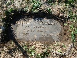 Pvt Russell E. Bowman