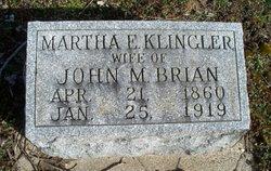 Martha E <i>Klingler</i> Brian
