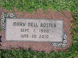 Mary Nell <i>Kennedy</i> Boster