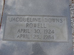 Jacqueline <i>Downs</i> Rowell