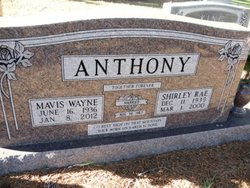 Shirley Rae <i>Rooks</i> Anthony