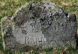 Lieut Benjamin Barker, I