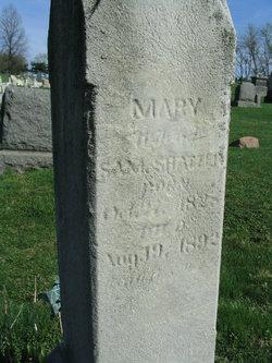 Mary A <i>Snyder</i> Shatzer
