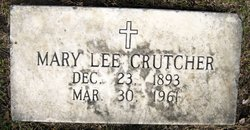 Mary Lee <i>Hudson</i> Crutcher