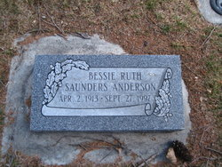 Bessie Ruth <i>Saunders</i> Anderson