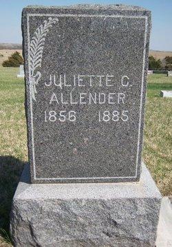 Juliette C <i>Cantwell</i> Allender