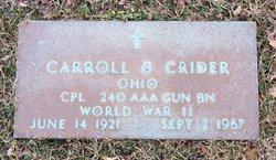 Corp Carroll B Crider