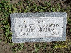Christina Marcus <i>Blank</i> Brandau