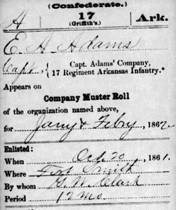 Capt E. A. Adams