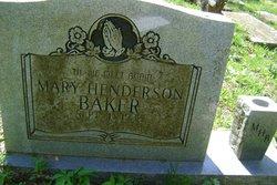 Mary <i>Henderson</i> Baker