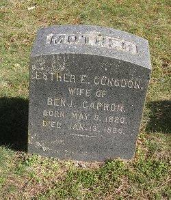 Esther E. <i>Congdon</i> Capron