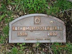 Ruth S. <i>McAllister</i> Frye