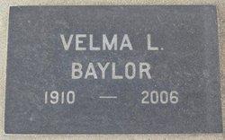 Velma L <i>Canaday</i> Baylor