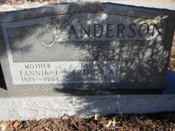 Fannie Jane <i>McGehee</i> Anderson