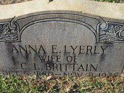 Anna Elizabeth <i>Lyerly</i> Brittain