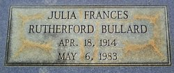 Julia Frances <i>Rutherford</i> Bullard