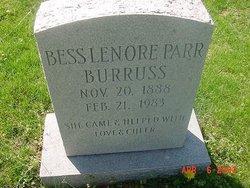 Bess Lenore <i>Parr</i> Burruss