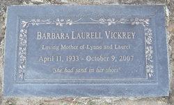 Barbara <i>Laurell</i> Vickrey