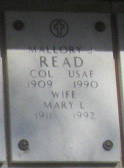 Colonel Mallory J Read