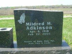 Mildred M <i>Miller</i> Adkinson