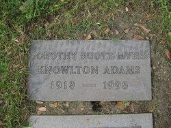Dorothy Scott <i>Myers</i> Adams