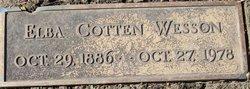 Elba Brown <i>Cotten</i> Wesson