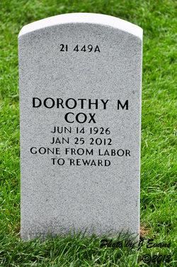Dorothy M Cox