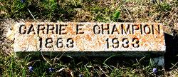 Carrie Emma <i>Sage</i> Champion