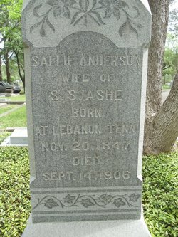 Sallie <i>Anderson</i> Ashe