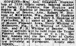 Ann Elizabeth <i>Whiting</i> Hopkins