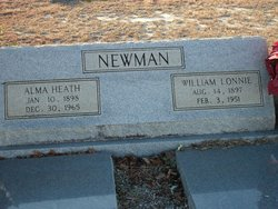 Mary Alma Inez <i>Heath</i> Newman