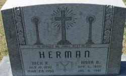 Anna B <i>Lang</i> Herman
