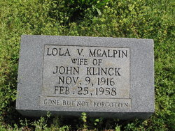 Lola Vivian <i>McAlpin</i> Klinck