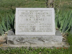 Delocky <i>Gallatin</i> Barnes