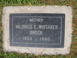 Mildred E <i>Whitaker</i> Brock