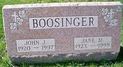 John J Jack Boosinger