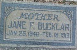 Jane <i>Fant</i> Bucklar