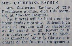 Catherine <i>Harkin</i> Eachus