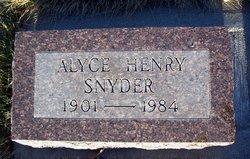 Alyce <i>Henry</i> Snyder